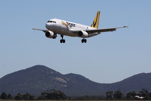 Tiger Airways over the You Yangs
