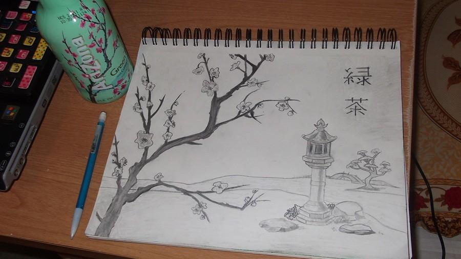 Arizona Green Tea Drawing