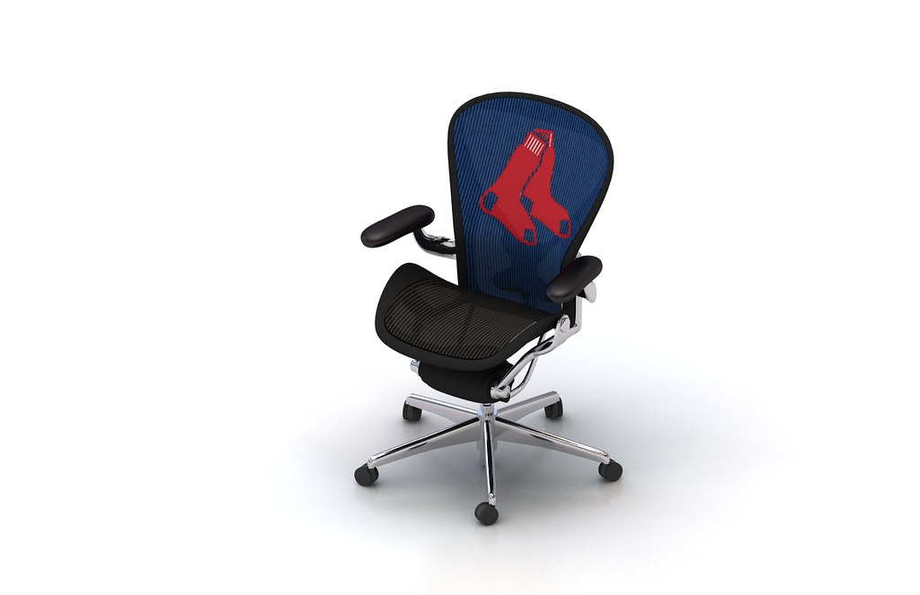 Cool Hm Aeron Chair With Redsox Logo Footprint Flickr Dailytribune Chair Design For Home Dailytribuneorg