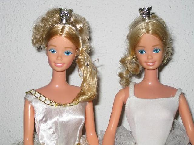 1983 Ballerina Barbie ~ different faces
