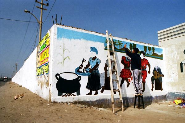 Peru Travel Photography Reisfotografie Pisco Wall Painting Peru.254 by Hans Hendriksen