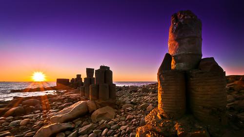 sunset sun nature skåne rocks sweden explore pillars oceanandsky dagshög