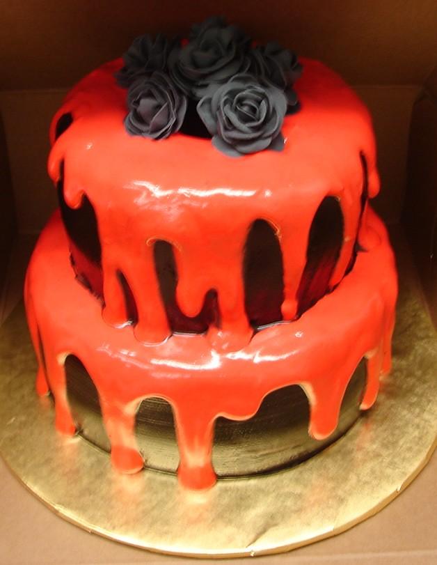 Sensational Elegant Goth Birthday Cake Elegant Goth Birthday Cake Thi Flickr Funny Birthday Cards Online Inifofree Goldxyz