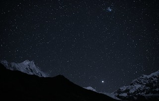 Manaslu (8156 m), Pleiades and Jupiter | by Oleg Bartunov