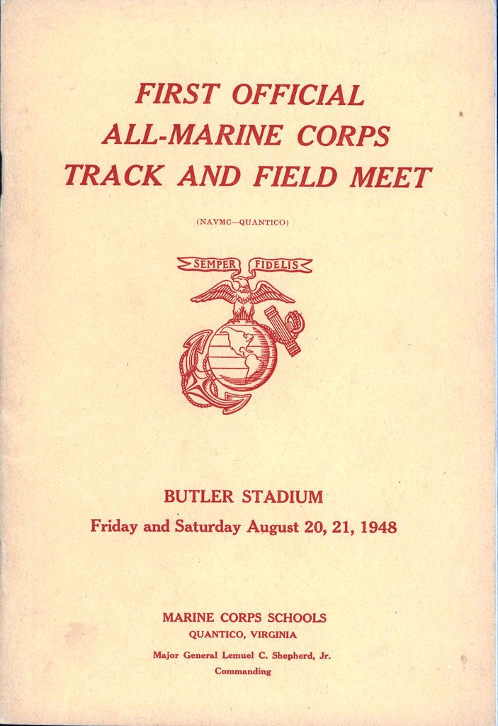 All-Marine Corps Track and Field Meet Program, 20-21 Augus…   Flickr