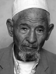 The last inhabitant of ghost town Khangat Sidi Nadji, Algeria