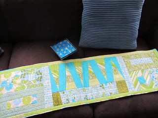 Table Runner from the SewHappyGeek Swap!