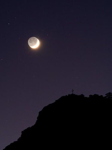 autumn sky moon night stars landscape geotagged colorado cross hill sanluisvalley conejoscounty lasmesitas