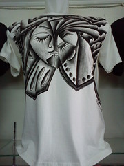 KAOS LUKIS E1 CREATIVE BLACK AND WHITE