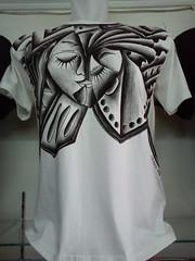 KAOS LUKIS E1 CREATIVE BLACK AND WHITE