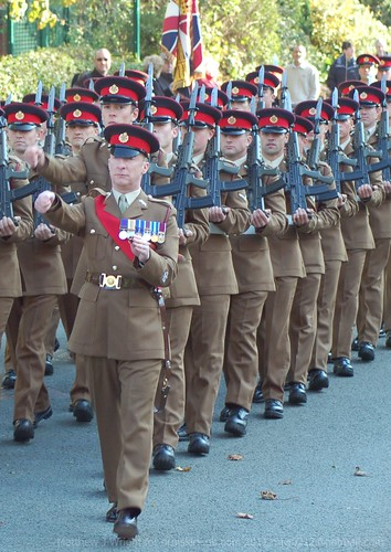 DSC_0066a 2nd Battalion Duke of Lancaster Regiment Marching Freedom of West Lancs Borough Parade   by Matthew and Heather Wright
