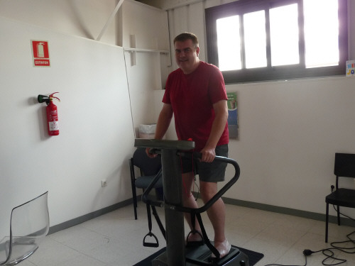 Clients at our Gym, on the Vibration machines