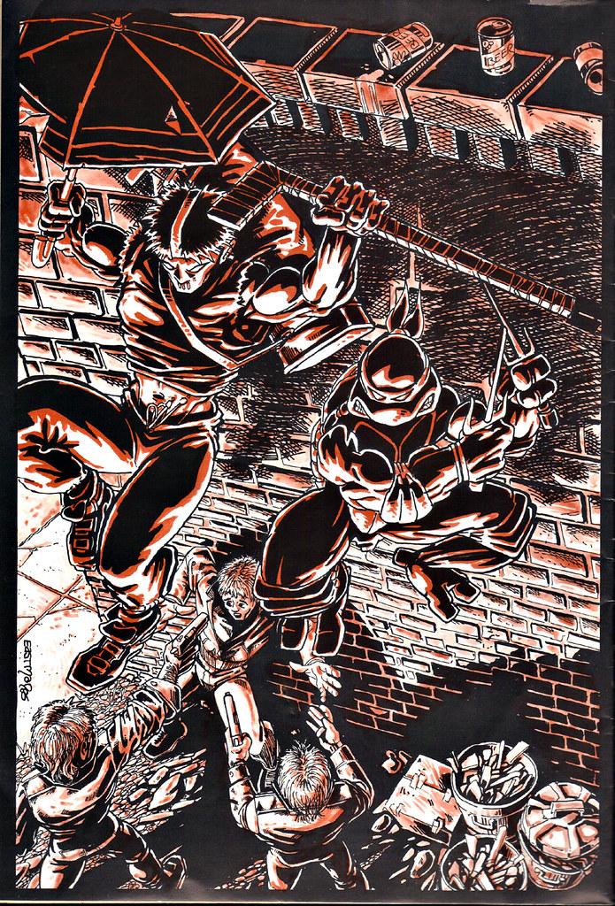 RAPHAEL, TEENAGE MUTANT NINJA TURTLE #1 { ORIGINAL MICRO SERIES } ii // Back cover art by Eastman (( 1985 )) by tOkKa