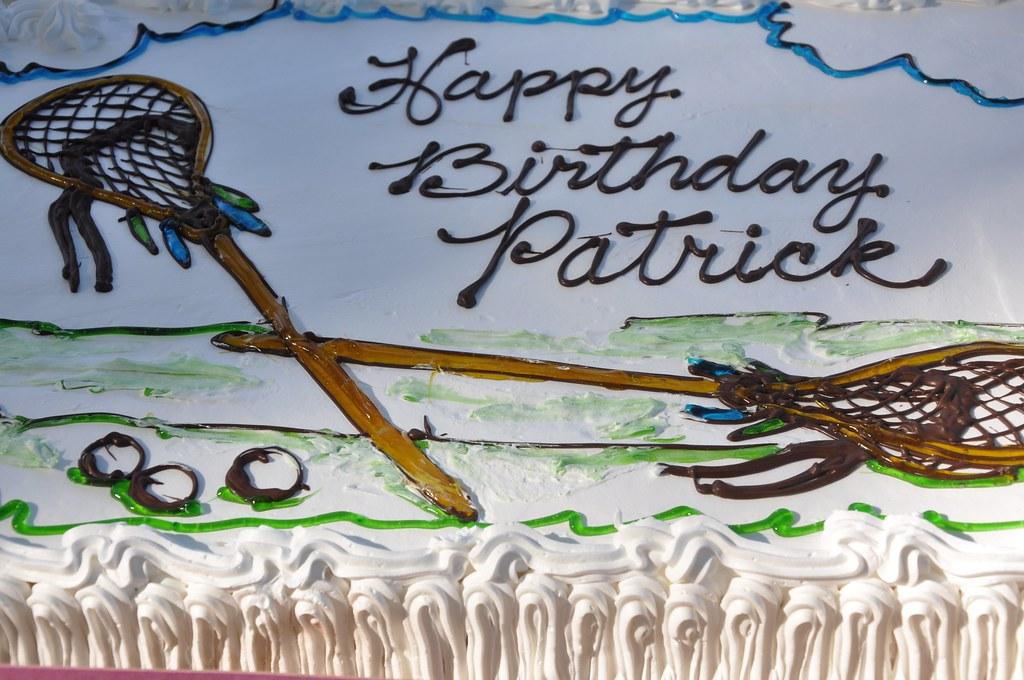 Awe Inspiring Patricks Birthday Cake I Surprised Patrick At Lunch With Flickr Personalised Birthday Cards Cominlily Jamesorg
