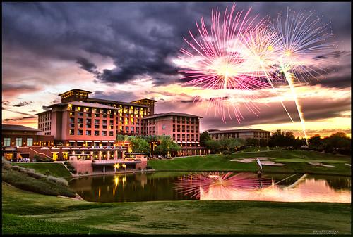 arizona fireworks az resort golfcourse scottsdale westin hdr kierland canon1635mm westinkierland canon7d krpimages kenpetersonphotography