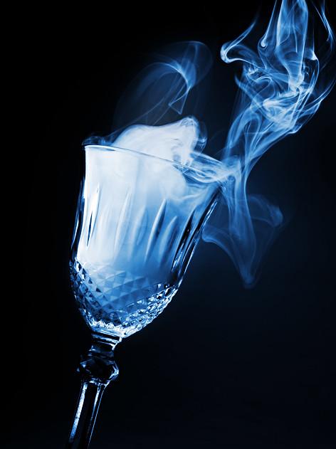 glass of magical smoke