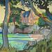 Villa Rose, Oil on canvas, 100x80cm