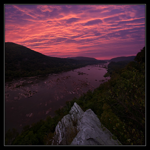 bridge trees light sky sun west water clouds sunrise river virginia rocks pretty maryland potomac