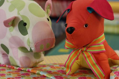 Pink Chalk animal friends