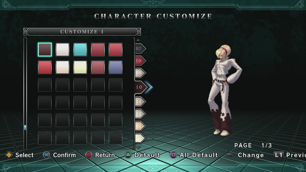 The King Of Fighters Xiii Para Ps3 Character Customize Flickr