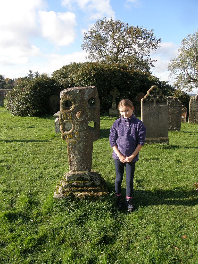 A with Anglo-Saxon cross