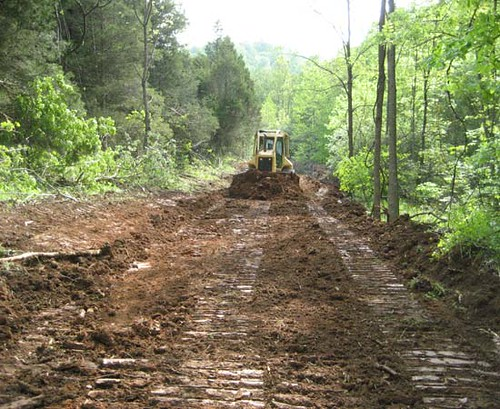 A new truck road being constructed.