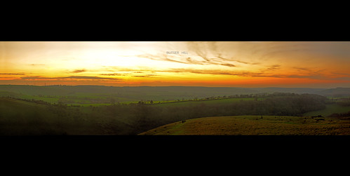panorama 50mm dusk hill hampshire nikkor butser f18d