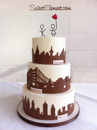 Swell New York San Francisco Copenhagen City Skyline Wedding Flickr Personalised Birthday Cards Paralily Jamesorg