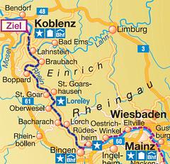 Велосипедная дорога Mainz - Koblenz