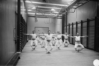 Men on gym in Stockholm 1927 | by Stockholm Transport Museum Commons