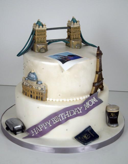 BC4069 - world travel birthday cake toronto