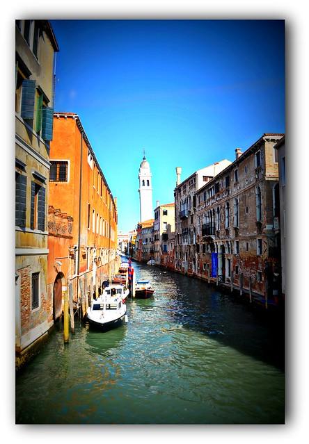 Venezia: Il campanile di San Giorgio dei Greci