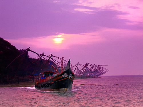 travel pink sunset sea sky cloud india tourism boat fishing fort south chinese violet tranquility landmark kerala gone nets moods cochin kochi waterscape vala cheena ernakulm areyarey
