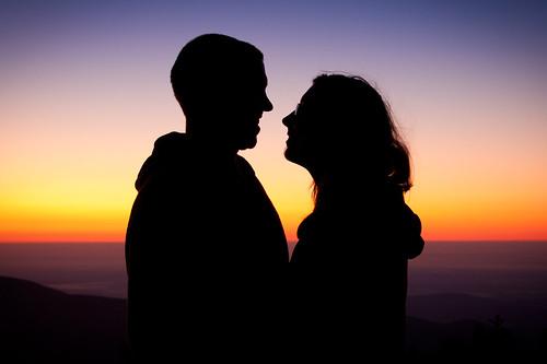 park morning family sky people love smile silhouette sunrise dawn glow peak hike hawksbill shenandoah skylinedrive