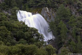 Seasonal Waterfall in the Merced River Canyon, Yosemite National Park, California
