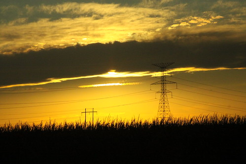 sky sun lines silhouette yellow clouds canon golden corn october power 50d cotd 24105f4l