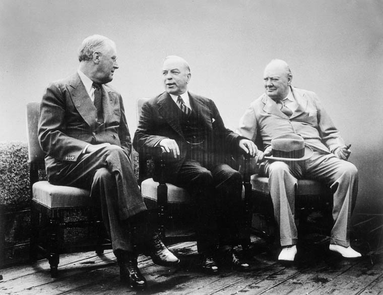 Resultado de imagen para Fotos de Winston Churchill, Franklin D. Roosevelt y William Lyon Mackenzie King