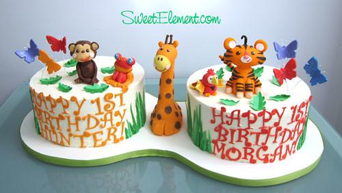 Astounding Fisher Price Rainforest Animals 1St Birthday Cakes Flickr Personalised Birthday Cards Beptaeletsinfo