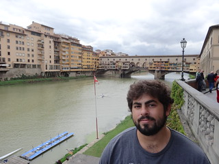 Me in front of Ponte Vecchio | by Nathan Mizrachi
