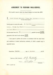 Mail Service Agreement - Tologa Bay Wharf