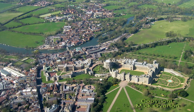Windsor Castle and the River Thames in impressive focus through SAS airliner window on approach to Heathrow!