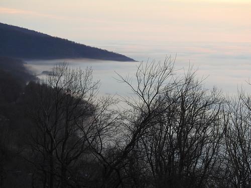 sea fog blue ridge mountains rockfish gap shenandoah national park skyline drive parkway virginia appalachians appalachia sunrise
