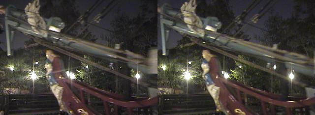 3D, figurehead, Columbia Sailing Ship, New Orleans Square, Disneyland®, Anaheim, California, night, 2008.08.08 21:19