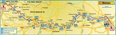 Карта маршрута Пассау - Вена