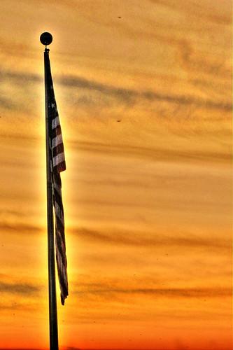 sunset usa 3 america unitedstatesofamerica americanflag pro godblessamerica hdr highdynamicrange hdri photomatix sunsethdr october2009 photomatixpro3 canonpowershotsx110is