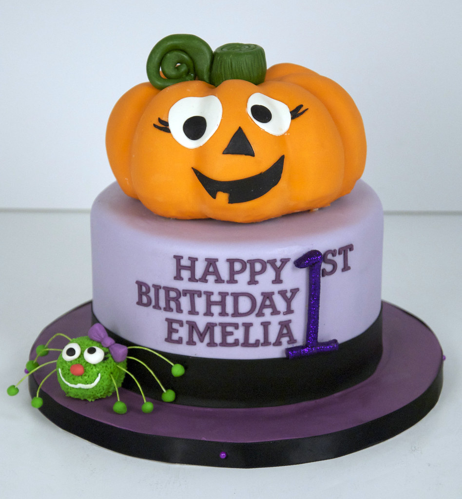 Wondrous Pumpkin 1St Birthday Cake Toronto A 6 Round 8 10 Serving Flickr Personalised Birthday Cards Beptaeletsinfo