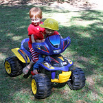 Carson Giving Grant a Ride Around the Yard\