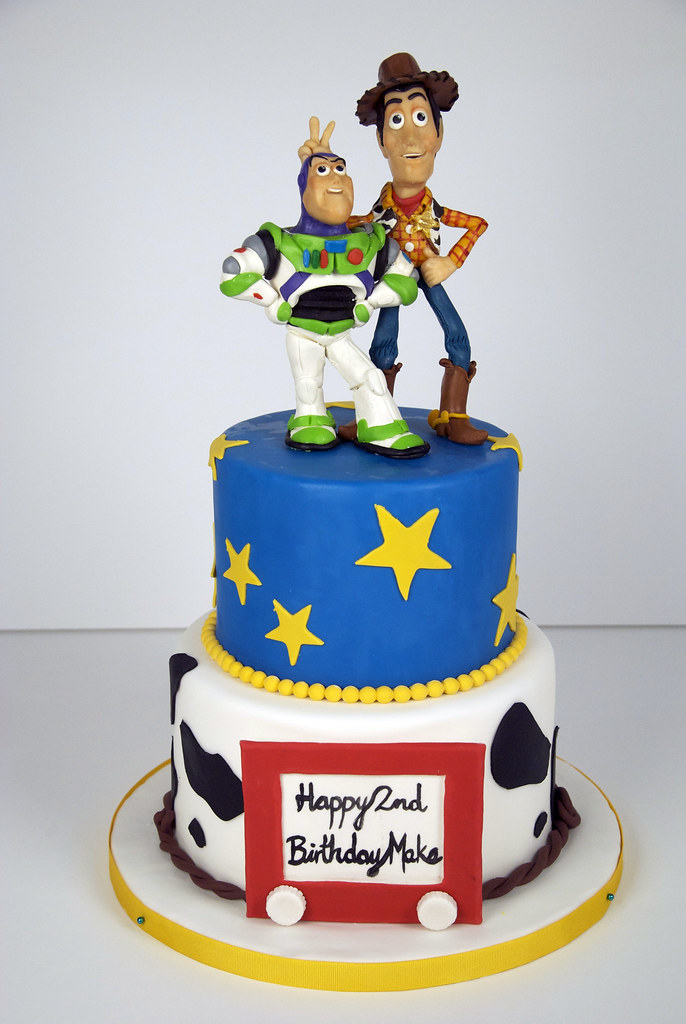 Astonishing Bc4090 Toy Story Birthday Cake Toronto Bc4090 A 2 Tier Flickr Personalised Birthday Cards Rectzonderlifede