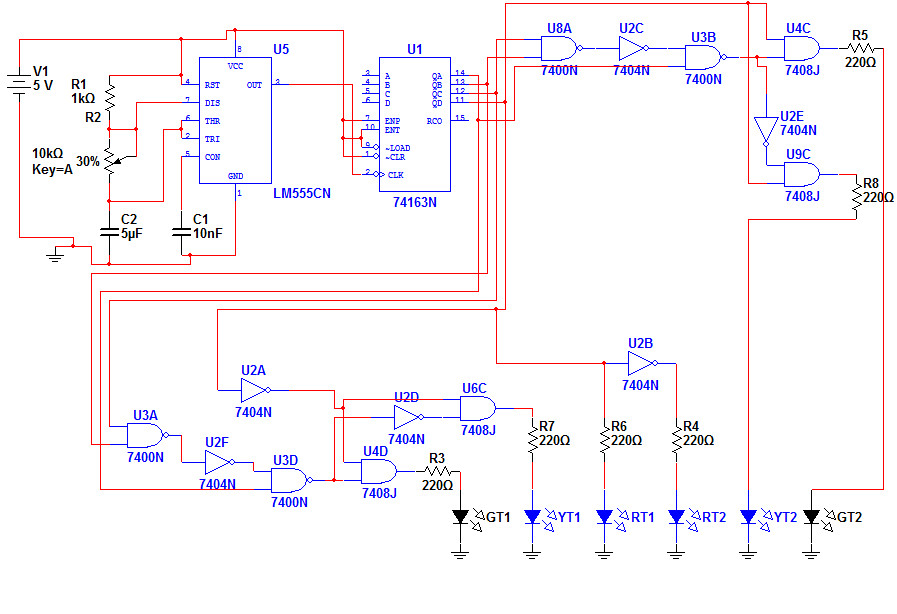 led traffic light schematic rev1 schematic of a led traffi flickr rh flickr com traffic light arduino schematic traffic light wiring schematic