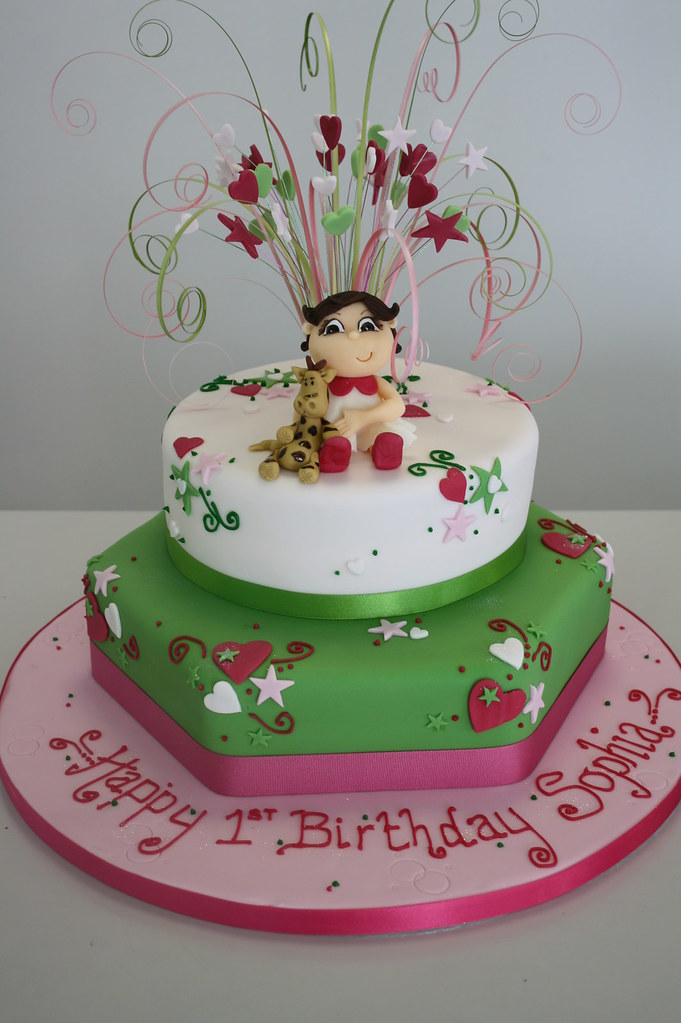 Phenomenal Cake 1St Birthday Sophia By Stace Jules Enquiries Birthday Cards Printable Opercafe Filternl
